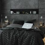 Chambre total look noir