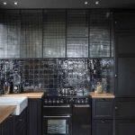 Une cuisine noire très chic