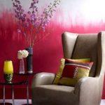 Moitié de mur en aquarelle rose
