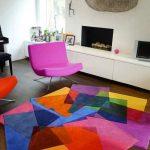 Tapis motifs colorés