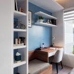 Un bureau bleu