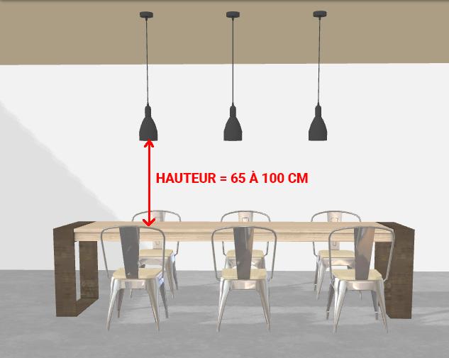hauteur suspension au dessus table lampe au dessus d une table luminiare de salle a manger. Black Bedroom Furniture Sets. Home Design Ideas