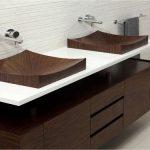 votre vasque imitation bois wengé