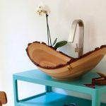 votre vasque imitation écorce d'arbre