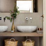 votre vasque à poser en pierre granuleuse