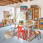 Votre salle à manger très colorée