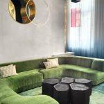 Grand canapé vert